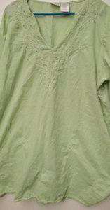 Secret Treasures green nightgown - 3X
